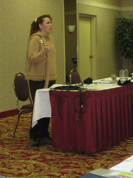 Sabine Contreras at the Dog Food Seminar in Calgary, September 2007