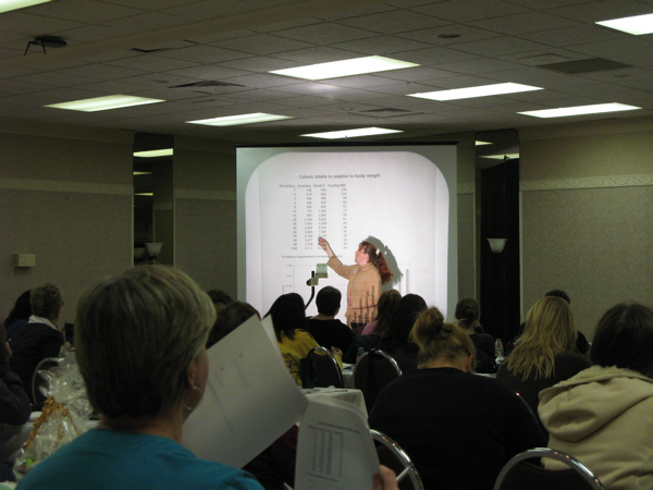 Discussing the differences in nutrient requirements of dogs at the Dog Food Seminar in Calgary, September 2007